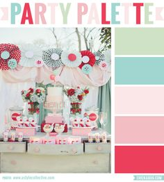 Party Palette: Boardwalk carnival party #colorpalette