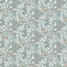 Korallang by Boråstapeter - Green - Wallpaper : Wallpaper Direct Green Wallpaper, Cool Wallpaper, Wallpaper Backgrounds, Iphone Wallpaper, Wall Peper, Bathroom Wallpaper, Woodland Creatures, Home And Deco, Weird And Wonderful