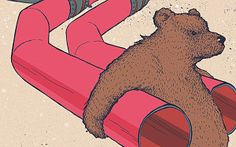 The Russian bear with gas pipeleines