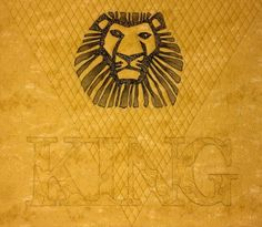 Disney Lion King Musical image created with Thread. It was made for and Instagram mini quilt swap.