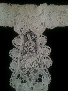 Antique Collar Brussles Duchesse Rose Art Remnant Bridal Repair Edwardian | eBay