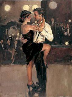 tango by raymond leech Shall We Dance, Lets Dance, Tango Art, This Magic Moment, Tango Dancers, Dance Paintings, Pierre Auguste Renoir, Edgar Degas, Ballroom Dancing