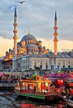 Istanbul at dusk, Turkey. One of my absolute favorite places I've ever been to. Istanbul is soooo magical and exotic. Places Around The World, Oh The Places You'll Go, Travel Around The World, Places To Travel, Travel Destinations, Places To Visit, Around The Worlds, Turkey Destinations, Travel Tips