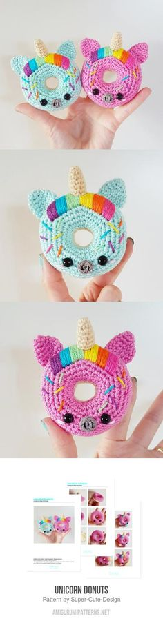 Unicorn Donuts amigurumi pattern | Beautiful Cases For Girls