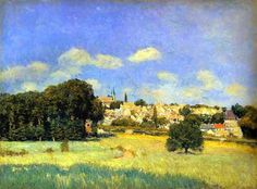 View of Marly-le-Roi (Sunshine),1876 by Alfred Sisley