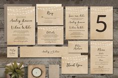 Brown Wedding Invitation Suite by Aarley Kaiven on @creativemarket