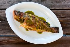 grilled rock fish with basil. Simple Grilled Fish with Basil
