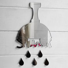 Your place to buy and sell all things handmade Acrylic Mirror, Room Signs, Window Cleaner, Mirror Door, Shower Heads, Bathroom Hooks, Decorative Bells, Shower, Showers