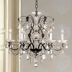 Schonbek Madison Collection Six Light Crystal Chandelier