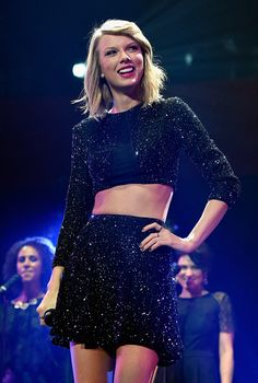 Taylor Swift performs onstage during KIIS FM's Jingle Ball 2014 powered by LINE at Staples Center on December 5, 2014 in Los Angeles, California.