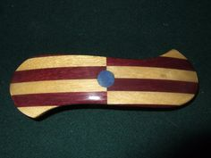 Wood Wooden Barrette Hairclip purple heart large by Thingsinwood18, $51.00