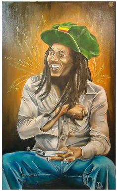 JEREMY WORST Bob Marley Weed Original Artwork by JeremyWorst