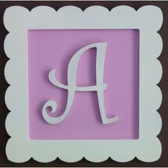 Whimsical FRAMED Hanging Wall Nursery Letters by paintingmama