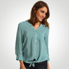 Joie Edaline B Front Tie Blouse in Deep Mint  WAS $228 - NOW $68  Find Joie clothing in Beverly Hills at Jami Lyn on Robertson.