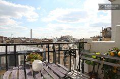 Paris Apt Montmartre w/ Eiffel Tower view & balcony. <3 Je t'aime. #airbnb