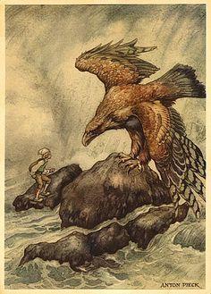 the wonderful adventures of nils holgersson illustration anton pieck