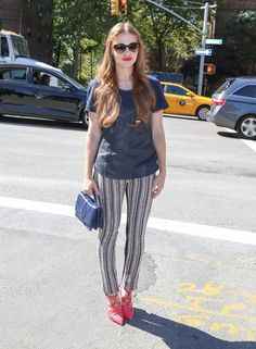 Holland Roden Photos Photos - Holland Roden seen outside the Lincoln Center for the NYFW in New York City. - Holland Roden at Fashion Week