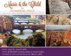 Music and the Child - Rowan University Custom Program in Florence, Italy (ISA Custom Program)