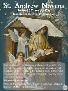 A FREE St. Andrew Novena Printable for Advent and preparing for Christmas- with your whole family! Found at Catholic Mommy Blogs