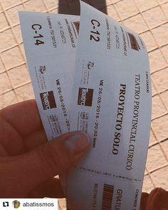 Amigos las entradas para Curicó ya están disponibles en Boletería del Teatro vaya por la suya. ( Regalan 2 x persona)  #Loviw
