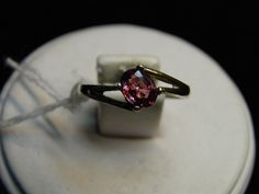 New Ladies Sterling Silver Ring sz 7 October birthstone .80ct Pink Tourmaline SALE  #catsjwelryngems