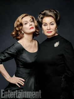Susan Sarandon as Bette Davis and Jessica Lange as Joan Crawford on 'Feud.'