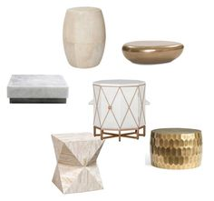 """Tables"" by ramak on Polyvore featuring interior, interiors, interior design, home, home decor, interior decorating, Palecek, Mitchell Gold + Bob Williams, Pottery Barn and Gabby"