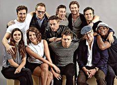 """いいね!997件、コメント5件 ― """" In yo FACESSSS"""" - RDJさん(@avengers_cast)のInstagramアカウント: 「Bless #AaronTaylorJohnson #ElizabethOlsen #CobieSmulders #PaulBettany #ChrisEvans #JeremyRenner…」"""