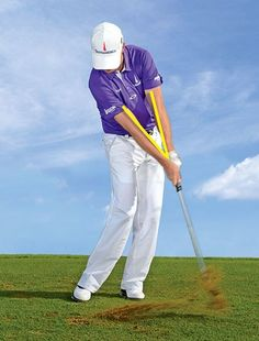 """If you are adding wrist action to your pitch shots, it increases the chance of hitting it fat or thin. According to Zach Johnson, you should be using your arms more. """"When you sole the club, notice that your arms form a """"V"""" shape. Your goal is to preserve the """"V"""" as you swing the club back and through. There should be very little hand action or forearm rotation. All you're trying to do is maintain the clubface loft that you established at address. That makes the ball fly nice and high and…"""