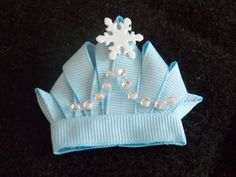 Frozen Princess Sculpture Crown Tiara Ribbon Sculpture by RiosBows, $5.50