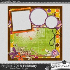 FREE Quick Page Freebie Using Project 2015: February Created by Deanna from Connie Prince