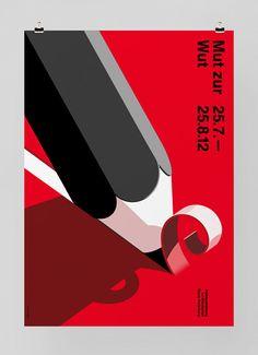 Mut Zur Wut - Exhibition Poster Design by Felix Pfäffli. Swiss graphic design.