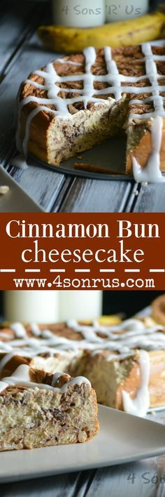 A yummy cinnamon bun crust is filled with rich and creamy cheesecake with a thick cinnamon swirl. Topped with a thick glaze, this Cinnamon Bun Cheesecake will take you to a whole new level of enjoyment with breakfast flavor for dessert.