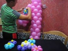 Единичка из воздушных шаров. (Unit of balloons)