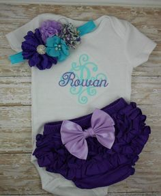 Newborn Baby girl coming home outfit take home by LittleQTCouture