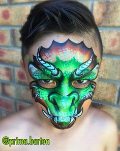 """196 Likes, 8 Comments - Prima H. Barton (@prima.barton) on Instagram: """"Modifying my Full Face Dragons... still studying... one stroke dragon OTJ style. Products used:…"""""""
