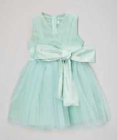 Look at this #zulilyfind! Blue Big Bow Dress - Kids #zulilyfinds