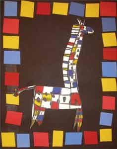 Great frame! Mondrian inspired animal...