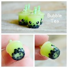 Honey dew bubble tea charms are now listed in my etsy store. (The link is in my bio) There are only 4! Other flavors will be added soon. #polymerclay #polymerclaycharms #clayjewelry #claycharms #clay #charms #jewelry #pendant #handmade #diy #etsy #crafts #bubble #boba #bobatea #bubbletea #tea #drinks #honeydew #fruit #melon #green #kawaiicharms #kawaii #cute #kawaiibubbletea by theclaycroissant
