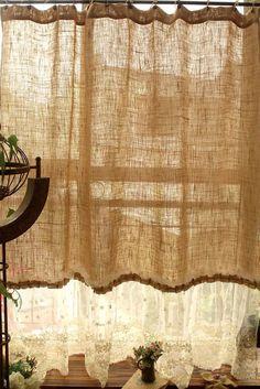 MINABLE lavés ferme rustique Chic Burlap par BetterhomeLiving