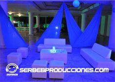 Salas Lounge Con Fondo Decorado con Velos http://serbebproducciones.com/