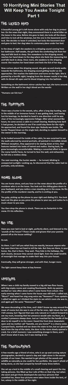 Horrifying Mini Stories 1-6