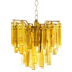 Amber Glass Murano Chandelier | From a unique collection of antique and modern chandeliers and pendants at https://www.1stdibs.com/furniture/lighting/chandeliers-pendant-lights/
