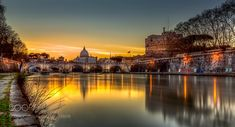 Sunset on the River Tiber by BlueMaxPhotography