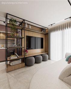 Home Room Design, Home Interior Design, Living Room Designs, Living Room Decor, House Design, Living Spaces, Living Room Partition, Deco Design, House Rooms