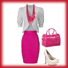day pink & white, created by lafujiko on Polyvore