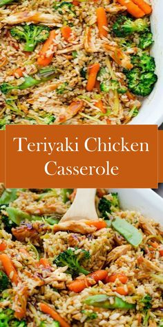 The Best Teriyaki Chicken Casserole Dinner Chicken – Dinner Recipes Good Food, Yummy Food, Tasty, Teriyaki Chicken Casserole, Baked Greek Chicken, Dinner Dishes, Main Dishes, My Best Recipe, Yum Yum Chicken