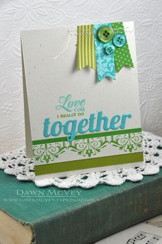 Love You Card by Dawn McVey for Papertrey Ink (July 2013)