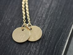 Personalized Gold Monogram Necklace