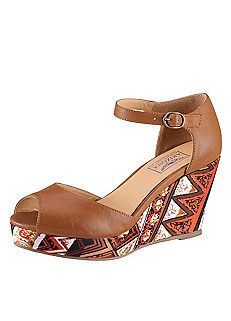 9205848b1 Arizona Wedged Aztec Print Sandals Wedge Sandals